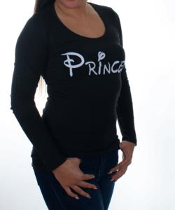 Fekete princess pamut női felső