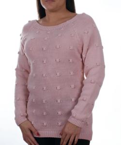 Mustár nyaknál cipzáras női kötött pulóver - Női pulóver 321eefb11b