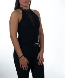 Fekete csoda csipkés női body