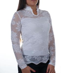 Törtfehér csipke női blúz
