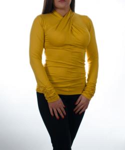 Fűzöld finomkötött női pulóver - Női felső 9a2d48251e