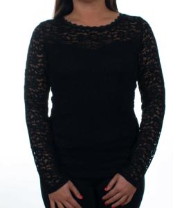Fekete csipkés hátul áttetsző női felső