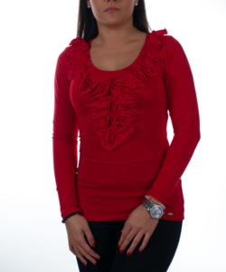Piros fodros női felső