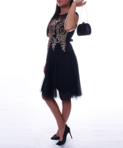 Anna Grace fekete női alkalmi táska lánc pánttal