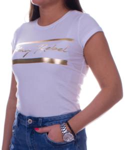 Fehér női póló arany felirattal
