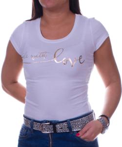 With love fehér női póló
