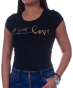 With love fekete női póló