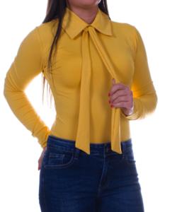 Kikiriki mustár galléros női felső