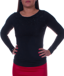 Kikiriki fekete elegáns női felső