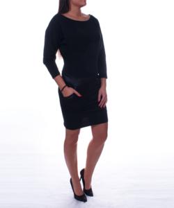 Fekete lezser női tunika