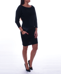 Lezser fekete női tunika