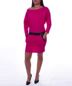 Magenta színű lezser női tunika