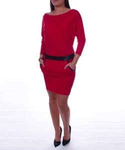Lezser piros női tunika