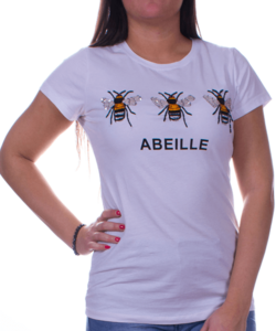 Fehér méhecskés női felső