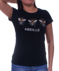 Fekete méhecskés női felső