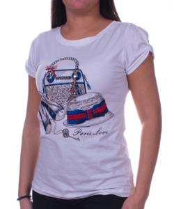 Fehér Paris love női felső