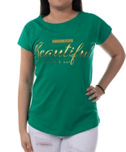 Gyönyörű zöld színű női felső