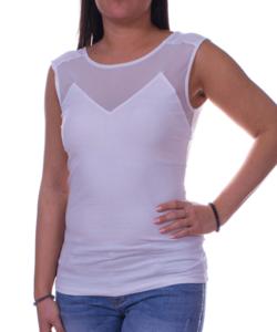 Fehér tüllbetétes női felső