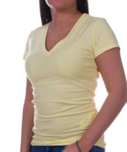 Sárga rövid ujjú női felső