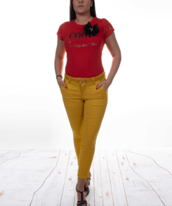 Masnis piros női felső