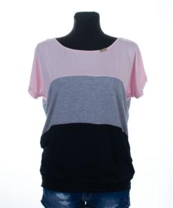 Victoria moda púder-szürke-fekete felső