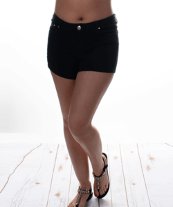 Fekete push up női farmer rövidnadrág