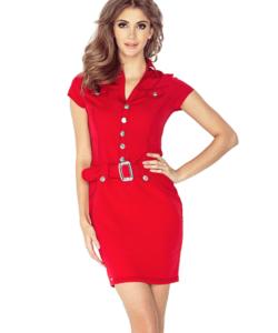 Piros női elegáns ruha