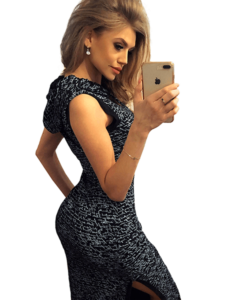 Fekete kapucnis női ruha