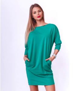 Victoria moda adriakék laza női ruha