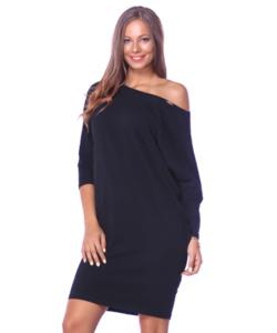 Victoria moda fekete laza női ruha