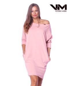 Victoria moda mályva laza női ruha
