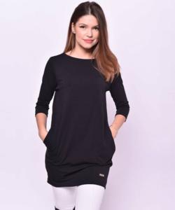 Victoria moda fekete oldalzsebes miniruha
