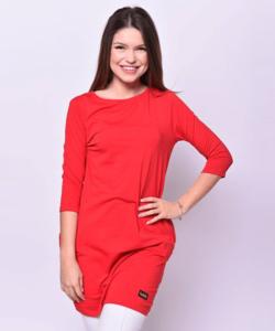 Victoria moda piros oldalzsebes miniruha
