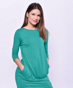 Victoria moda zöld oldalzsebes miniruha