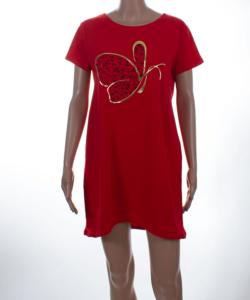 Pillangó gyöngyös piros női felső