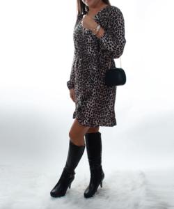Ocelot mintás  csini női ingruha