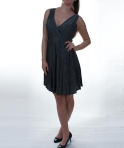 Ezüst lurexszálas női party ruha