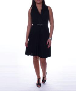 Átlapolt fekete női ruha