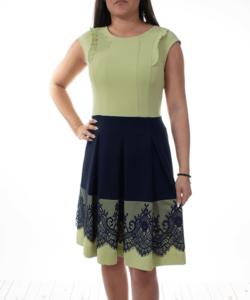 Extyn zöld kék csipkés alkalmi női ruha