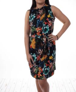 Fekete virágmintás nyári női  ruha