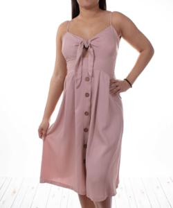 Púder színű nyári női ruha