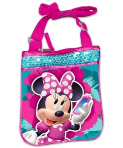Disney Minnie flitteres oldaltáska 22cm