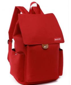 Piros vászon hátizsák