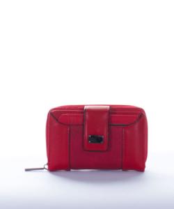 Piros divatos női pénztárca