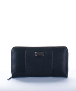 Fekete hímzett női pénztárca