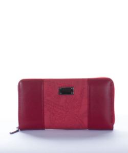 Piros hímzett női pénztárca