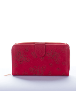 Piros  pillangós női pénztárca
