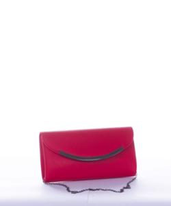 Piros alkalmi díszcsatos női táska