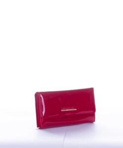 Piros lakk díszdobozos női pénztárca