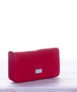 Piros nagy méretű női pénztárca